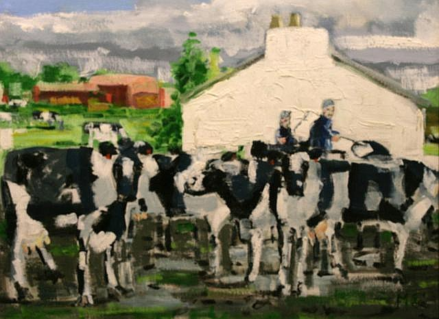 John McCart The Ould Boys Herd, 2007 Oil on board