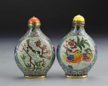 Pair of Chinese Cloisonne Snuff Bottle