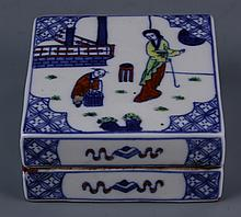 Chinese Doucai Ink Box