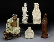 Five Chinese Porcelain Figures