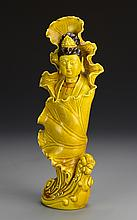 Chinese Yellow Glazed Guanyin