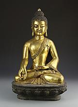 Chinese Brass Buddha Figure