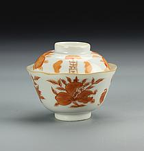 Chinese Famille Rose Tea Bowl with Cover