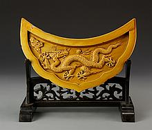 Chinese Ming Period Yellow Tile