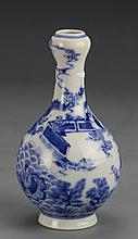 Chinese Blue and White Garlic Head Vase