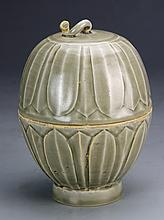 Chinese Celadon Covered Wine Pot