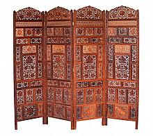Four Thai Folding Panel Screens