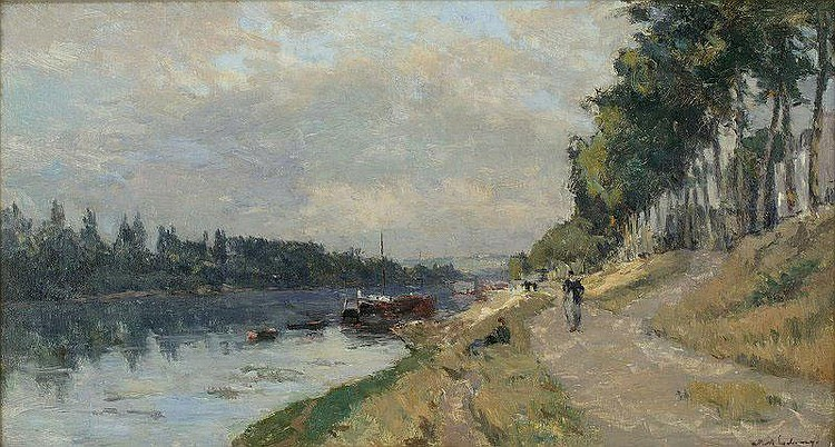 Albert Lebourg (1849-1928): THE SIDE OF THE SEINE