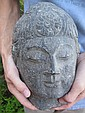 Chinese stone Buddha Head, 7 wheels of life, Tang dynst