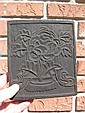 Genuine antique Tibetan wooden printing block, - Lotus
