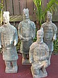 Four Chinese Bronze Worriers, Qin dynasty style