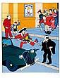 BOB DE MOOR   Monsieur Barelli  Sérigraphie numérotée et signée à 85 exemplaires  70 x 50 cm