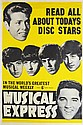 The Beatles, Elvis, Cliff Richard New Musical Express Promo Poster (NME, 1963)