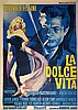 La Dolce Vita (1960), Cineriz, Italian four-foglio film poster, style A, artwork by Georgio Olivetti, directed by Federico Fellini,