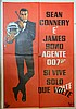 James Bond You Only Live Twice (r-1970's) Italian Foglio film poster, starring Sean Connery, United Artists,