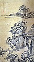 Chinese scroll decorated with a bird