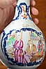 19th century Chinese famille rose bottle vase decorated with panels of figures