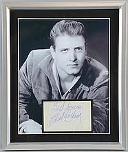 Eddie Cochran, American Musician, a clear blue biro autograph, signed 'Best Forever, Eddie Cochran', on an album page, mounted