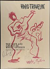 The Life and Legacy of Woody Guthrie, Hard Travellin' September 1996, Cleveland, signed by Bruce Springsteen &