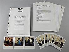 Tina Turner, Whatever You Want, shooting schedule from February 1996 along with ten polaroid photos, two showing Tina Turner