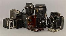 Box Cameras inc Ensign Special Reflex, Ilex Shutter, Zeiss Ikon Box-Tengor, Brownie Junior Six-20, Altiflex, Ica,
