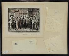 Harold Macmillan, British Prime Minister (1957-63), a framed montage containing a signed photograph, a handwritten letter,