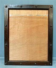 Cinema - Oak poster frame from the Gaumont Salisbury, 1931, architect W.E. Trent designed cinema in Tudor Gothic to be in keeping