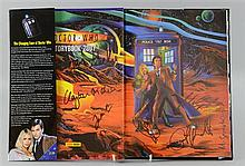 Doctor Who Storybook 2007, signed by nine including Clayton Hickman (Editor), Martin Geraghty (Artist), Jonathon Morris,