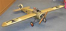 A prop handbuilt German plane made for the BBC TV series Wings (1977/78) that appears in the flying shots in the series