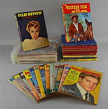 Collection of film magazines & books including Photoplay with covers of Elvis & James Garner, other magazines inc Modern Screen,