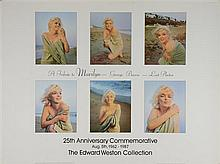 Marilyn Monroe, Five posters including The Hamptons, New York (1990), The Edward Weston Collection Last Photos 25th Anniversary