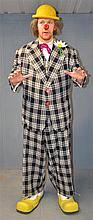 Benny Hill, English Comedian & Actor, an elaborate clown costume from 'A Clown In Town' (1983)