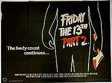 17 British Quads including Friday 13th Part 2 & Friday 13th Part V, horror, Vincent, Ruthless People, The Cotton Club, Scorpio,