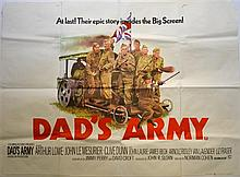 Dad's Army (1971) British Quad film poster, comedy starring Arthur Lowe & Clive Dunn,