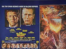 The Towering Inferno (1974), British Quad film poster, artwork by John Berkey, starring Steve McQueen, 20th Century Fox,
