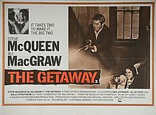 The Getaway (1972) British Quad film poster, starring Steve McQueen, National General Release,