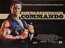 Commando (1985) British Quad film poster, starring Arnold Schwarzeneger, 20th Century Fox,