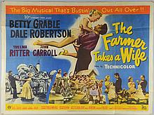 The Farmer Takes A Wife (1953) British Quad film poster, starring Betty Grable & Dale Robertson, 20th Century Fox,