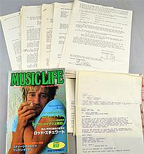 Rod Stewart Memorabilia including a Japanese Magazine & a large quantity of correspondence from Riva Music