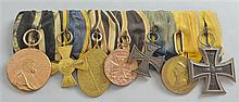 Group of nine Great War German medals including Kaiser Wilhelm centenary medal and an Iron Cross