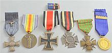 German WW2 Iron Cross and five other WW1 and 2 medals