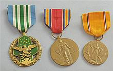 American medals WW2 Victory, Defense and a military merit medal for Joseph P Kasper