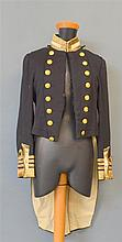 19th Century Naval ceremonial tail coat with stripes for a rear admiral
