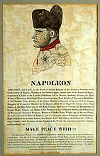 Napoleon , satirical portrait , ' Make Peace with' published by Robert Ackermann, 101 The Strand London