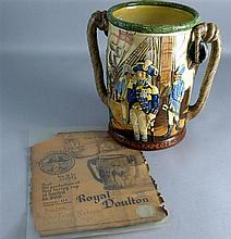 Royal Doulton Nelson pottery twin handled loving cup, limited edition no. 419/600