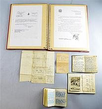Three World War II Diary's from Captain Hal Barber who was awarded the Military Cross, of 46th Battalion Royal Tank Regiment