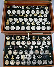 Great British Regiments, a cased set of 52 silver Medals with Insignia, limited edition,