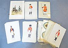 Collection of unframed prints of 19th century military uniforms
