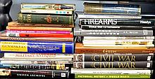 Various military books, mostly on weapons