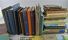A quantity of books of aeronautical interest to include training manuals, post WWII,
